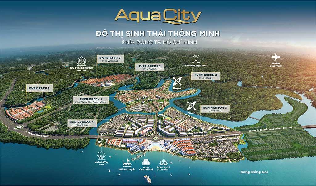Mặt bằng tổng thể Aqua City