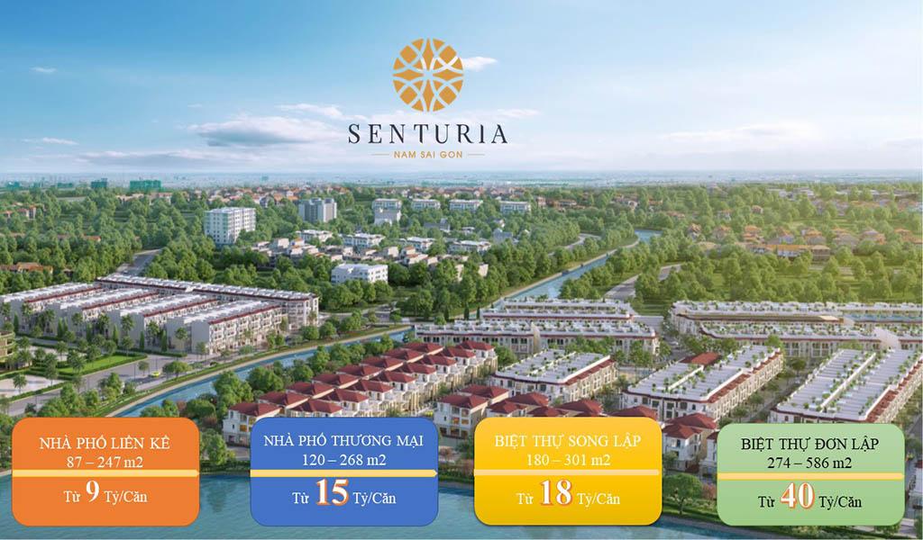 Giá bán Senturia Nam Sài Gòn