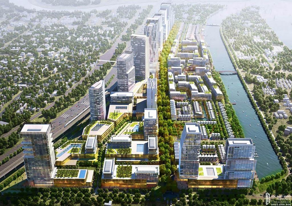 Phối cảnh dự án căn hộ chung cư River City Thu Duc Đường Xa Lộ Hà Nội chủ đầu tư Refico.