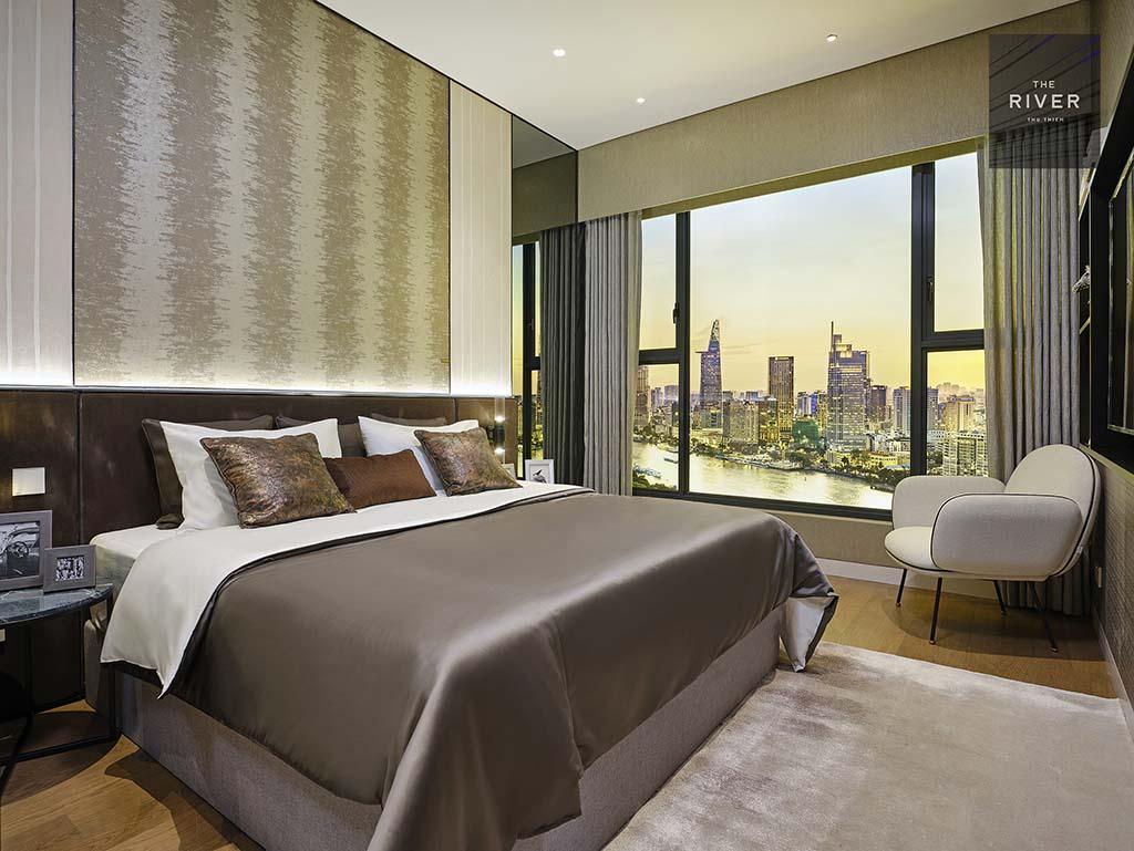 Phòng ngủ căn hộ 1 phòng ngủ The River Thủ Thiêm.