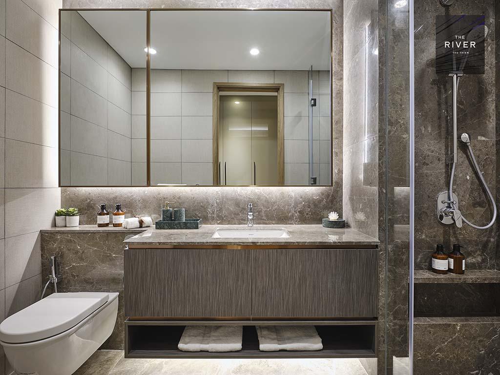 Phòng WC căn 3 phòng ngủ The River Thủ Thiêm.