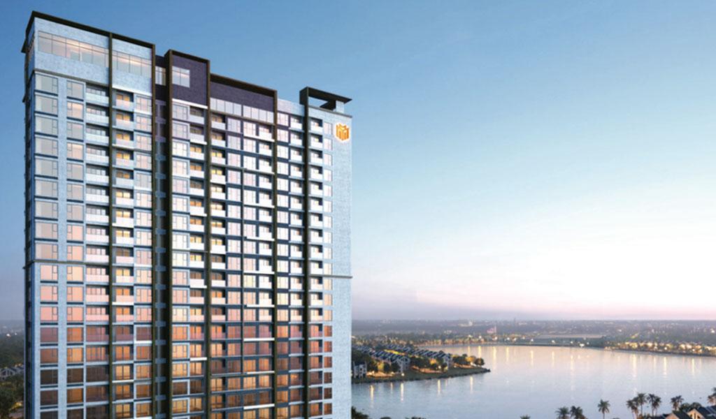 Masteri Waterfront sở hữu tầm nhìn không giới hạn trực diện biển hồ Ocean Park.