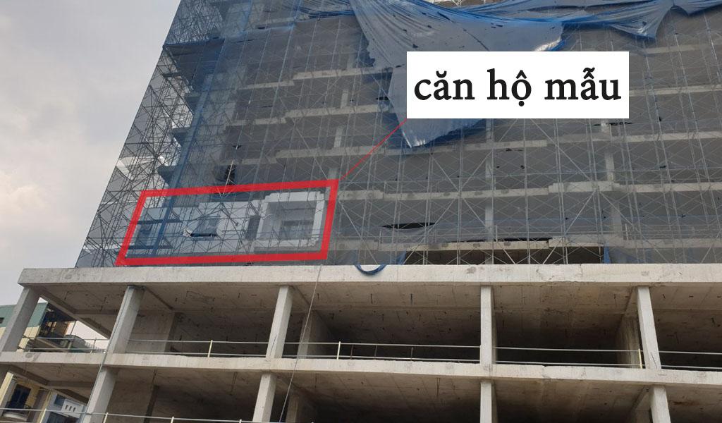 Tiến độ xây dựng căn hộ mẫu Venus Luxury Quận 5 tháng 3/2021.