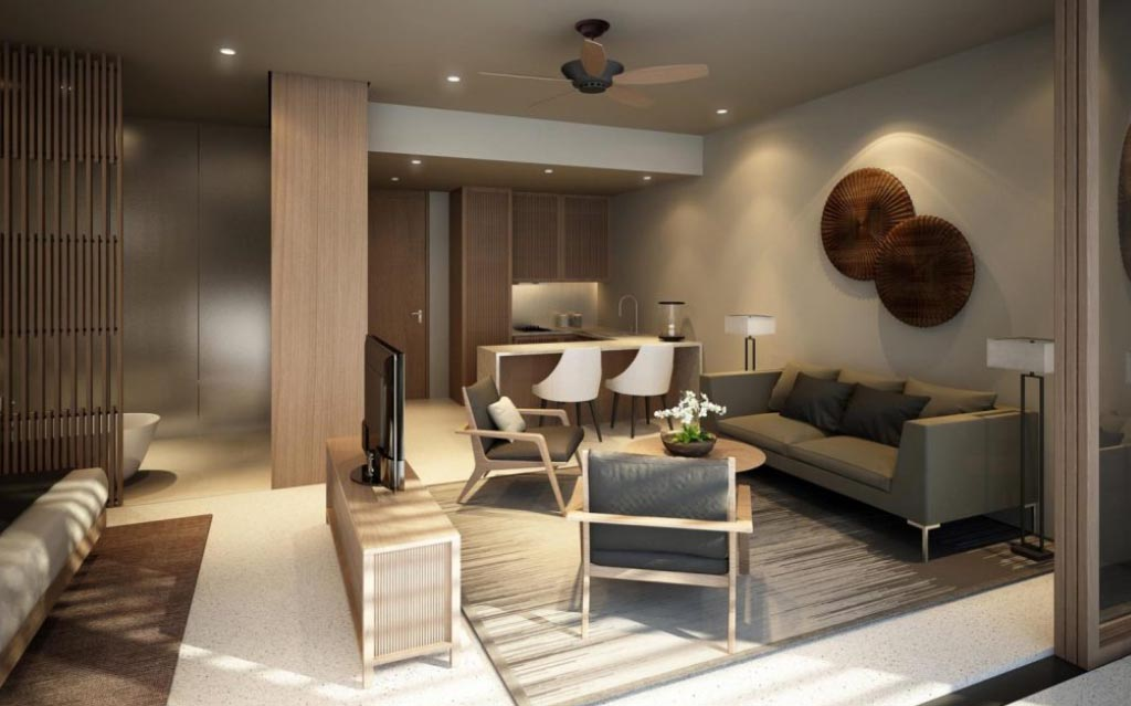 Phòng khách Venus Luxury Quận 5.